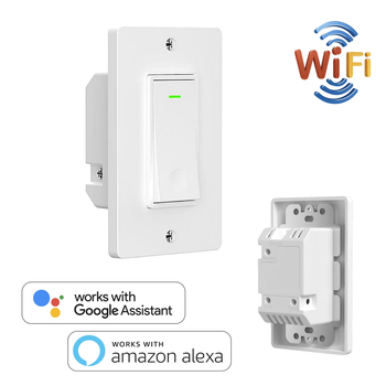 Smart WiFi US EU Switch Wall Smart Home Automation Wireless Remote Control for Light No Hub Required Work with Alexa Google Home broadlink 2017 new rm pro rm03 infrared remote control smart home automation wifi wireless remote control switch eu us uk au