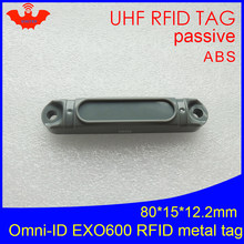 Uhf Rfid Anti-Metal Tag Omni-Id Exo 600 EXO600 915 Mhz 868 Mhz Impinj Monza4QT EPCC1G2 6C duurzaam Abs Smart Card Passieve Rfid Tags(China)
