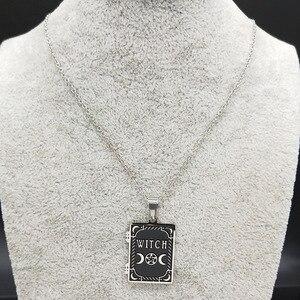 Мода 2020 Луна солнце пентаграмма из нержавеющей стали ожерелье ведьмы для женщин/мужчин колдовство ожерелье книга Ювелирные изделия joyas N19862