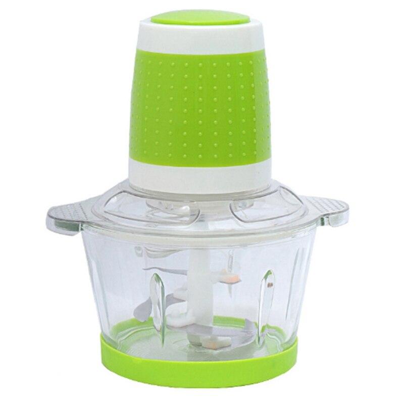 Ev Aletleri'ten Kıyma Makineleri'de 2L elektrikli kıyma makinesi kıyıcı parçalayıcı gıda parçalayıcı mutfak aracı et sebze meyve öğütücüler çok fonksiyonlu pişirme makinesi title=
