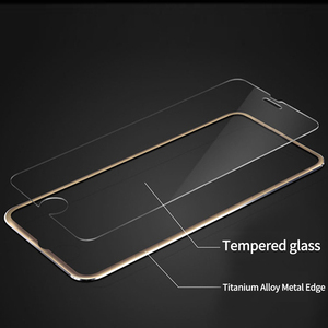 Image 3 - Suntaihoフルカバーiphone 7 7プラス3D湾曲縁合金金属フレーム強化ガラス7 8 6s 6プラス