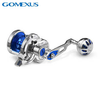 Gomexus Slow Jigging Reel Saltwater Fishing High Speed 7.1:1 Narrow Spool Sea Fishing Super Light Comparable to Shimano Avet - DISCOUNT ITEM  0 OFF All Category