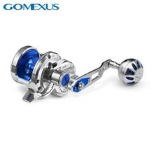 Gomexus powolne Jigging Reel słonowodne wędkowanie High Speed 7.1:1 wąska szpula wędkarstwo morskie Super lekki porównywalny do Shimano Avet