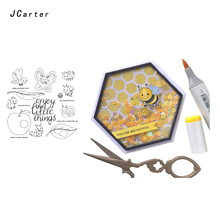 JC Rubber Stamps Clear Scrapbooking Insect Silicone Seals Craft Stencil Album Card Making Template Decoration New 2019
