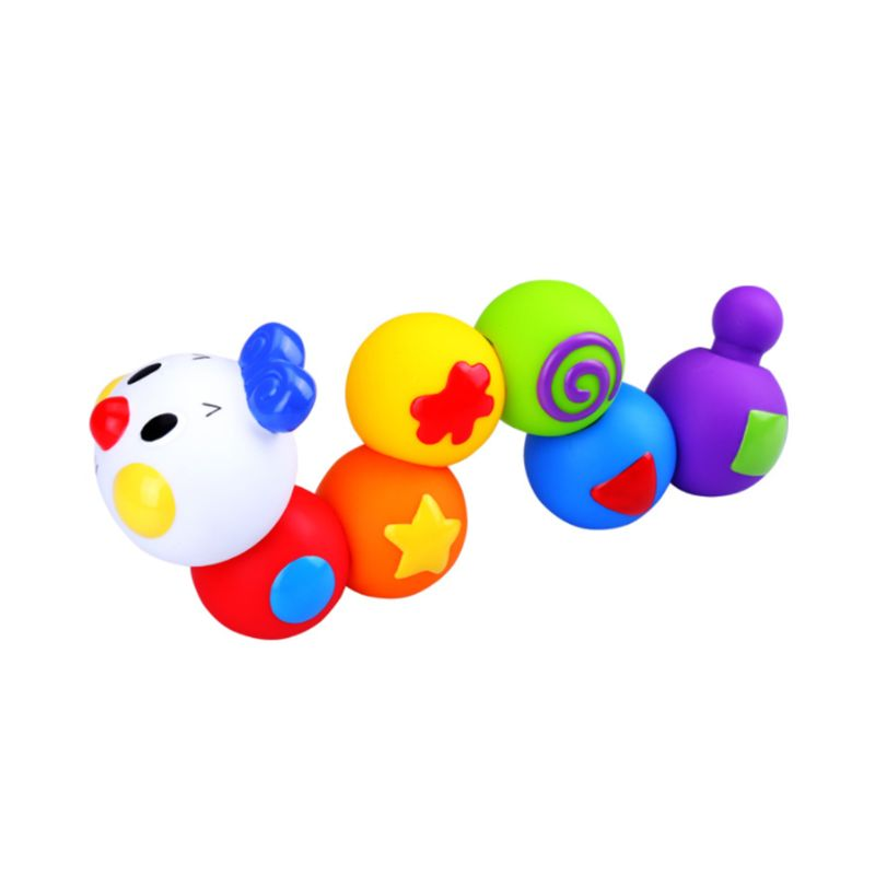 Bright Color Building Blocks Baby Grasping Brain Teaser Soft PVC Beads Assemble Bathing Ball Itelligence  Educational Toy