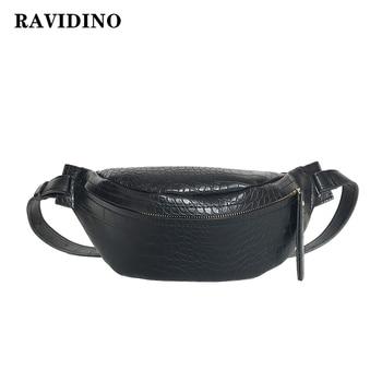 Crocodile Pattern PU Leather Waist Bags  1