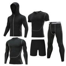 2020 męska dres kompresji strój sportowy siłownia odzież bieganie ubranie sportowe szkolenia ćwiczenia spodnie treningowe