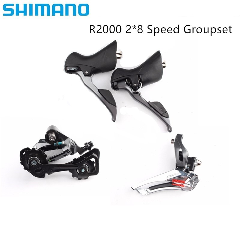 Shimano <font><b>Claris</b></font> <font><b>R2000</b></font> 2x8 speed road bike bicycle 3pcs groupset include FD-<font><b>R2000</b></font> + RD-<font><b>r2000</b></font> + ST-<font><b>R2000</b></font> update from <font><b>Claris</b></font> 2400 image