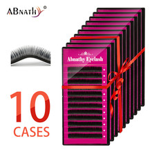 Abnathy 10CASE 12Rows Faux mink individual eyelash lashes maquiagem cilios for professionals soft mink eyelash extension aguud individual silk eyelashes natural soft lashes extension maquiagem cilios for professionals faux mink eyelash extension