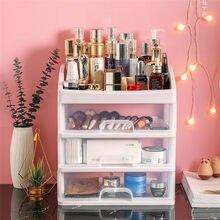 Recipiente para joyas, organizador de brochas de maquillaje, cajones de plástico, caja de almacenamiento de cosméticos