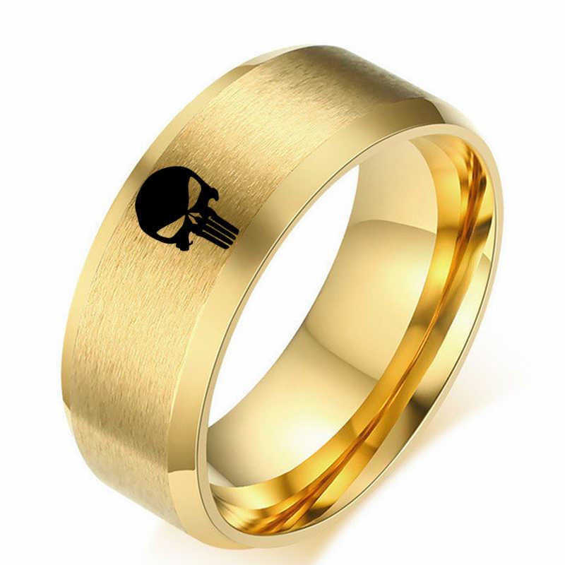8Mm Titan Đầu Lâu Nhẫn Cho Nam Và Nữ