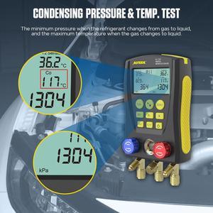 Image 2 - AUTOOL LM120+ Air Conditioning Manifold Digital Vacuum Gauge for Refrigeration HVAC Vacuum Pressure Temperature Tester PK Testo