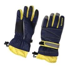 Blu Winter Waterproof with Long-Cuff for Snowboarding Skiing Warm Warm