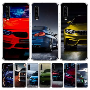 Blue white black For BMW Phone Case for Huawei P30 P40 P20 P10 Mate 20 10 30 Lite Pro P Smart Z Plus + Art Luxury Cover Coque image