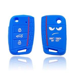 Image 5 - Xinyuexin לא מגע שלי מפתח 3 לחצנים רכב מפתח כיסוי מקרה עבור פולקסווגן גולף 7 MK7 מושב 3 איביזה 4 arona Ateca סקודה אוקטביה