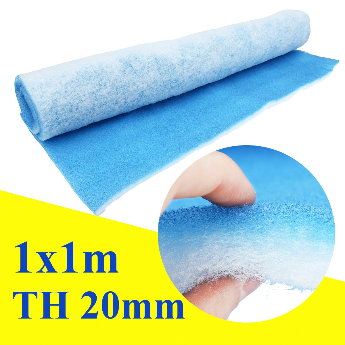 1 Roll Polyester Fiber Air Filter 20mm Thickness Paint Shop Car Spray Booth Air Filter Material Extraction Panel Waterproof 1x1m
