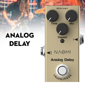 цена на NEP-10 Analog Delay Pedal Electric Guitar Effects Pedal DC 9V True Bypass For Electric Guitar