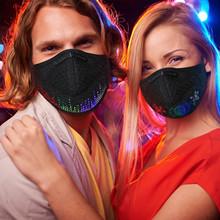 1PC LED aktywowana głosem świecąca maska maska Masquerade Festival maska imprezowa nie filtr nie kabel USB маска от вируса masque tanie tanio CN (pochodzenie) WOMEN COTTON Dla dorosłych Moda none Drukuj mascherina cuelga mascarillas mascarilla adulto mondkapjes wasbaar