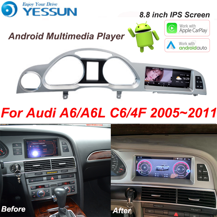 For Audi A6 A6L C6 4F 2005~2011 Car Android Multimedia Player Autoradio Radio Stereo GPS Navigation Carplay Video player image