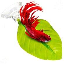 Folhas artificiais peixe poleiro betta desova descanso folha flutuante cama cama rede-combate peixe aqarium fundo decoração a