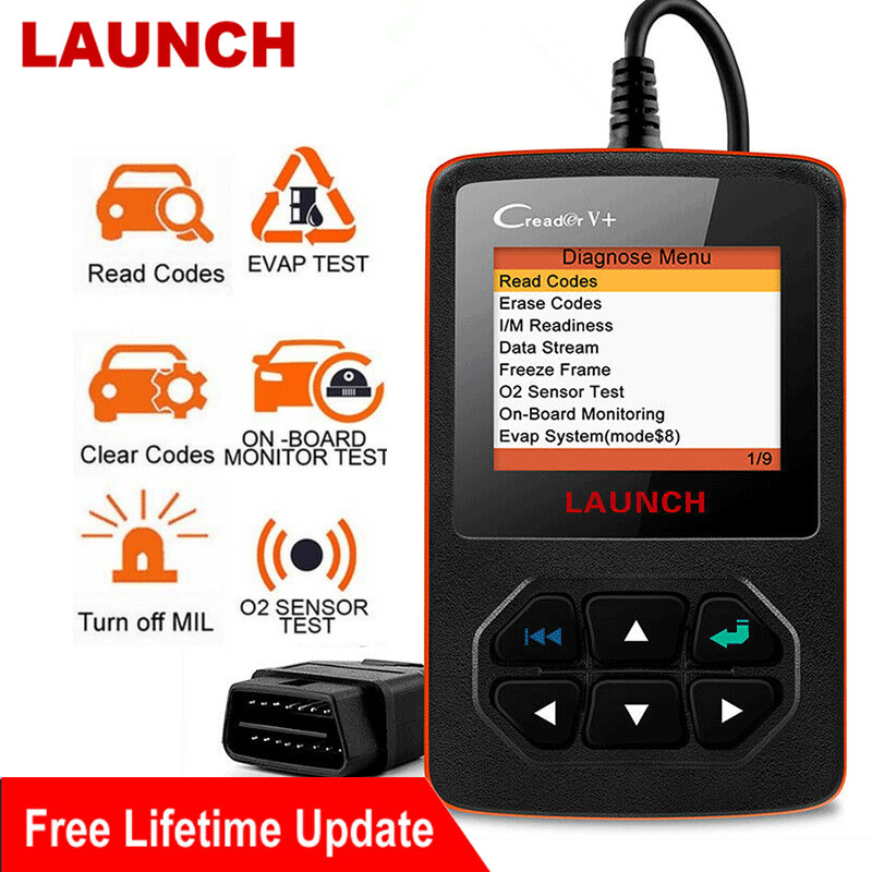 LAUNCH X431 Creader V  OBD2 Engine Code Reader EOBD OBDII Professional Car Diagnostic Tool LAUNCH Engine Scanner OBD Free Update