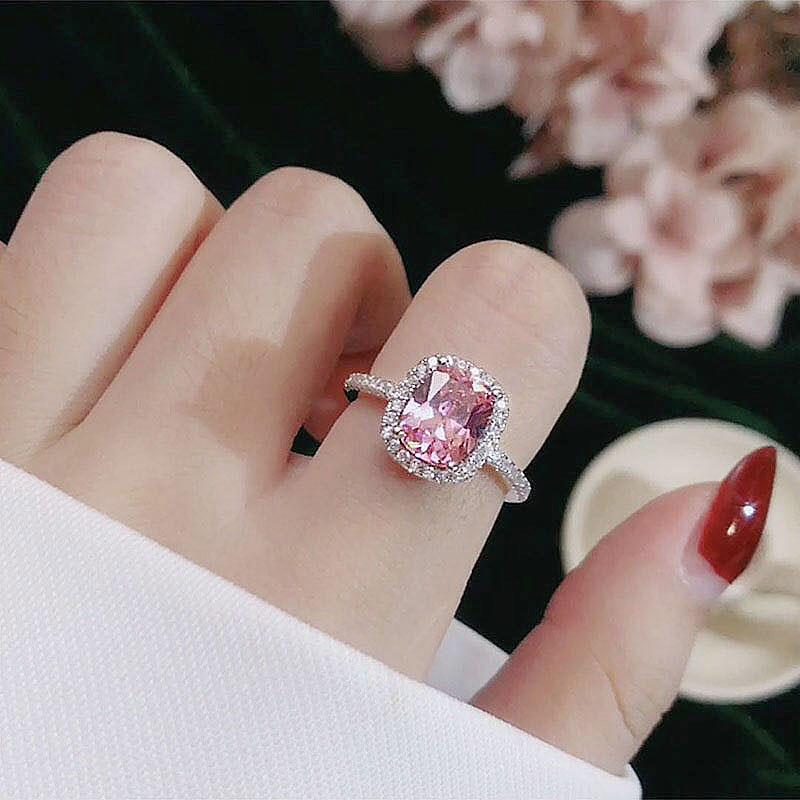 CC Rings For Women Bridal Wedding Anelli Trendy Jewelry Engagement Ring White Gold Color Anillos CC595