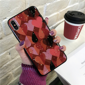 Image 5 - Cute Love Heart Print Back Cover For iPhone X XR XS MAX 8 7 6 6S Plus Phone Case Hard PC Cases Coque For iPhone 7 8 Plus