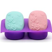 Силиконовое мыло для ароматерапии, форма с рисунком розы, пудинг, форма для лунного пряника, инструмент для украшения, магазин UYT