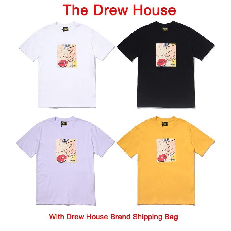 "Best Version Justin Bieber ""The Drew House"" Crying Lady Printed Women Men Short Sleeve T shirts tees Men Summer Cotton T shirt"