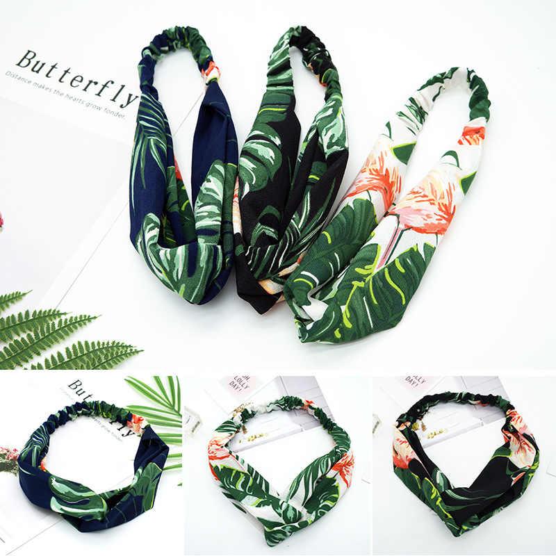 2019 mode Turban bandeaux Bandanas élastique motifs floraux bandeau cheveux bandes gomme cheveux pour filles femmes cheveux accessoires