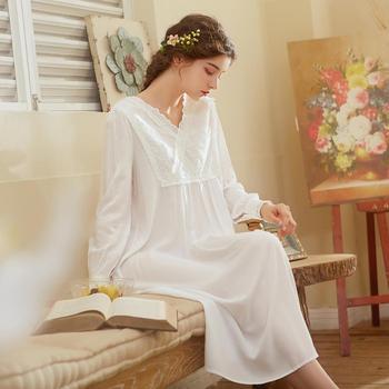 COTTON Sleepwear Retro Chemise Nighty Dress Negligee (S~XL) CP062A