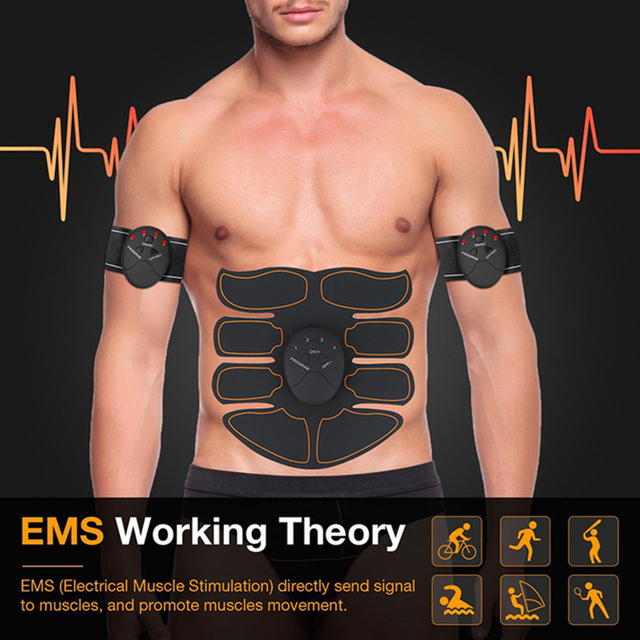 EMS Wireless Muscle Stimulator Smart Gifts Bring Ahealthy Body Electric Weight Loss Stickers Body Slimming Belt Dropshipping 1