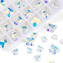 6x8/8x10/10x14mm crystal butterfly Pendant glass charms rhinestones beads for Earring making DIY jewelry findings