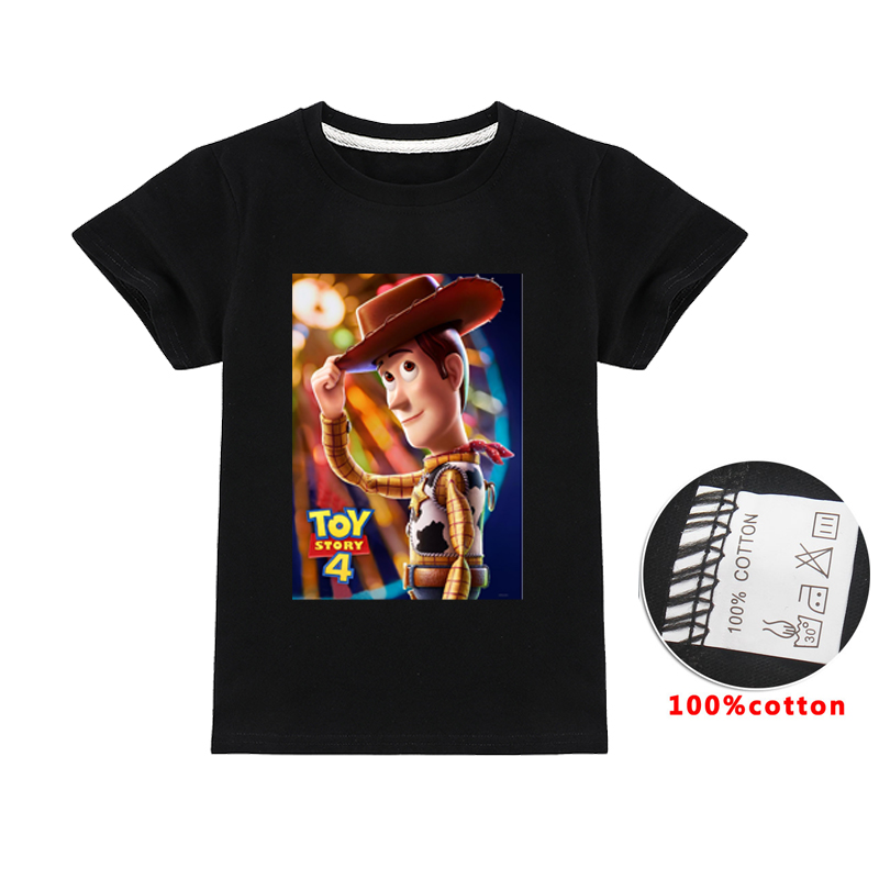 Disney Toy Story 4 Boys T-Shirt Woody Buzz Print Youth Ages 4-14