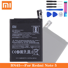 Xiao Mi BN45 Phone Battery For Xiaomi Redmi Note 5 Note5 Original Mobile Phone Batteries BM22 BN41 BN43 Free Tools xiao mi xiaomi mi bm22 phone battery for xiao mi 5 mi5 m5 prime bm22 2910mah original replacement battery tool
