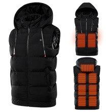 Veste chauffante d'extérieur pour homme et femme, vêtement thermique avec capuchon, pour randonnée et Camping, hiver 2020
