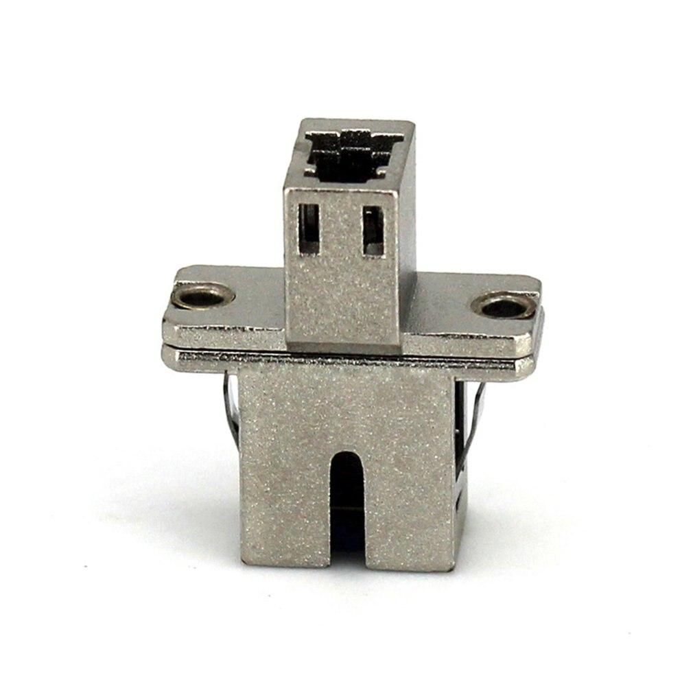 SC-LC Aluminum Alloy SM Single Core Metal Housing Fiber Optic Adapter Fiber Simplex Flange Coupler Parts