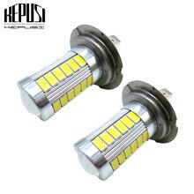 2x H7 LED Fog Light Bulbs Car Driving Lamp Auto DRL Daytime 12V White Blue for Acura Ford Honda Kia Chevrolet