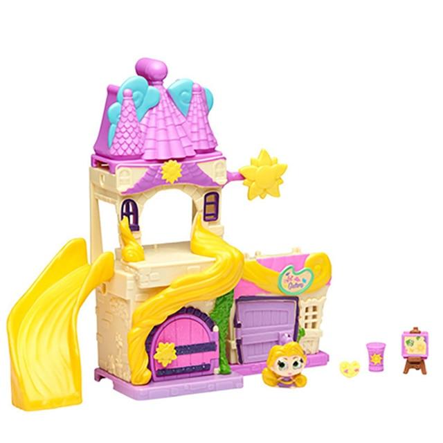TAKARA TOMY Disney Doorables Tangled Rapunzel Princess Tale Fantasy Castle Play Slide House Mini Peek Box Girls Gift Kids Toys 3