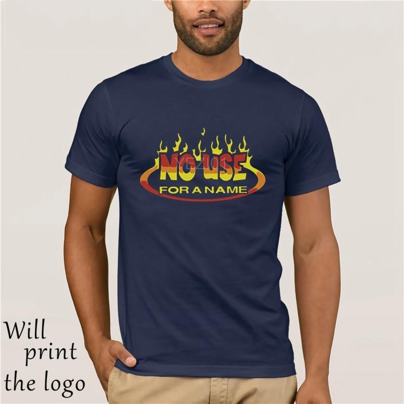 Summer Men Casual T Shirts No Use For A Name Logo Man Fashion Cotton Tops Black