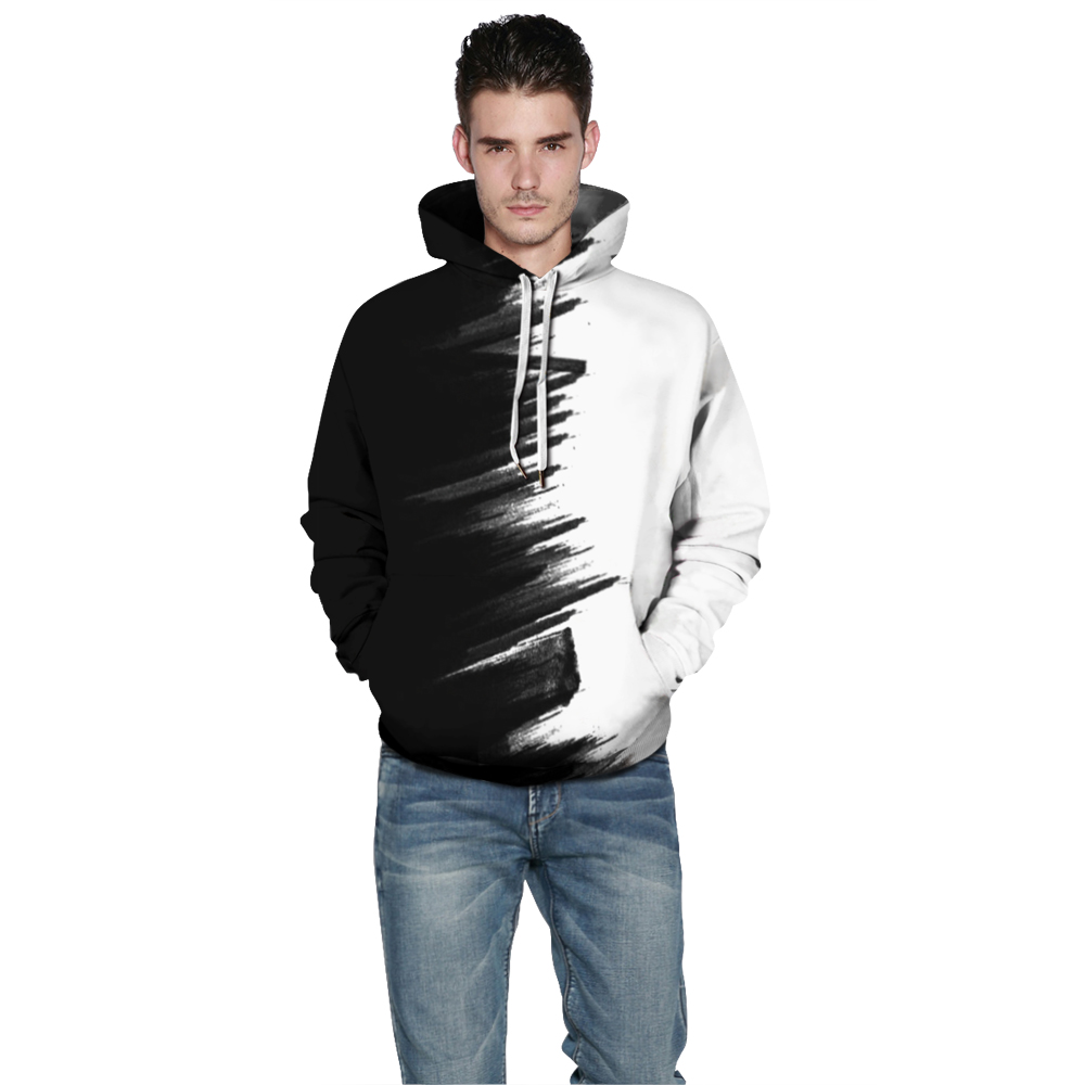 Newest 3D Sweatshirt Black White Painted Graphic Outerwear Men Women Hip Hop Hoodies Streetwear Pullover Tracksuit Tops in Hoodies amp Sweatshirts from Men 39 s Clothing
