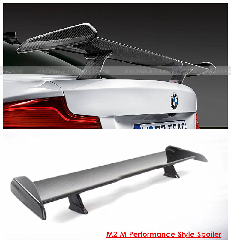 F80 F82 F87 M2 M3 M4 M Performance Style Carbon Fiber Rear Spoiler GT Wing For Bmw M2 M3 M4 Car Styling