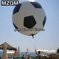 MZQM large inflatable football balloon sport ball PVC Cheap Price Event Display helium balloon large sky balloons