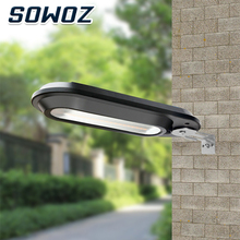 SOWOZ Solar Light Control Waterproof 180 ° Rotating Two Color Temperature Garden Wall Light LED Light Outdoor Street Light vioslite hot now product led light source and cool white color temperature cct all in one solar street light