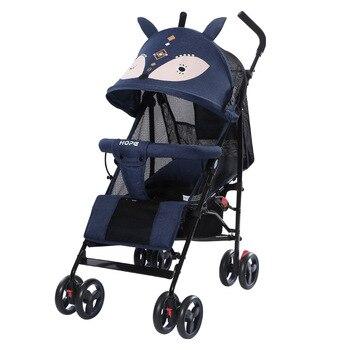 цена Lightweight Baby Stroller Can Sit Lie Portable Folding Baby Carriage Child Shock Absorber Trolley Visible Ceiling Summer онлайн в 2017 году