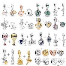 Динозавр Simba вращающийся земной бисер Подходит Pandora талисманы браслет ожерелье для женщин ювелирные изделия аксессуары