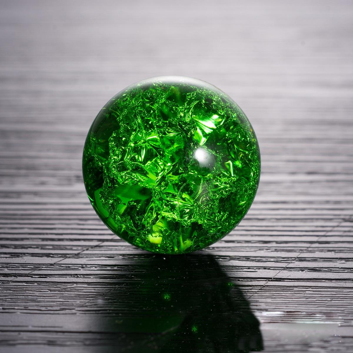 Gelo rachado bola de cristal vidro lente