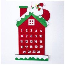 Sui Bao Рождественский Войлок Подвеска для календаря Рождественский обратный отсчет карточка с календарем в форме домика рождественские украшения календарь