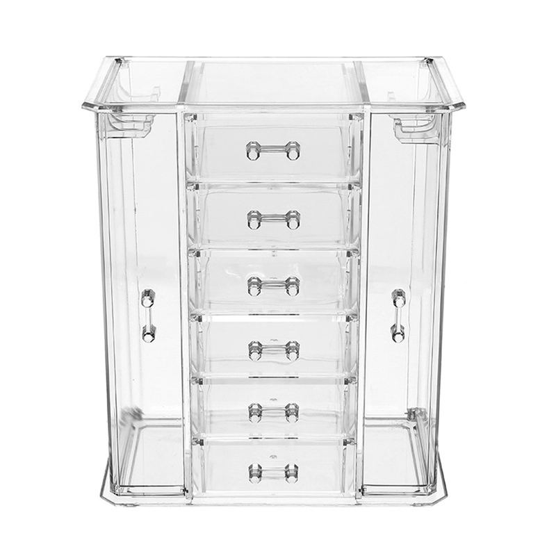 Boîte de rangement cosmétique transparente tiroir multicouche soins de la peau finition commode Collection de rouge à lèvres - 3