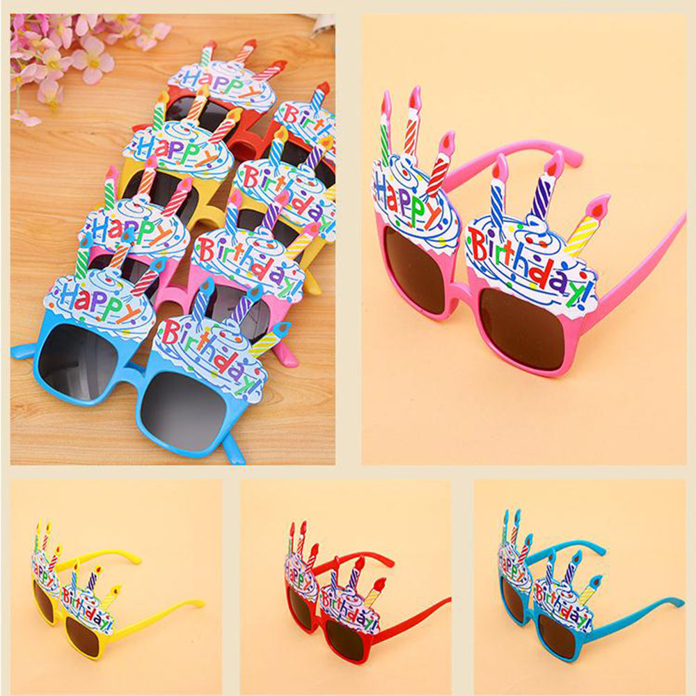 1pcs Happy Birthday Glasses Funny Novelty Eyeglasses Candle Sunglasses Party Glasses Party Supplies Birthday Gift For Kids